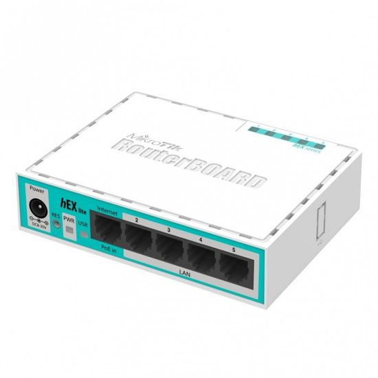 Mikrotik LAN usmjerivač hEX lite RB750R2, 5-portni