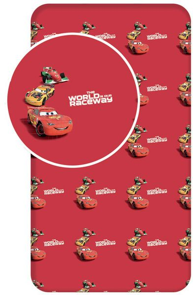 Jerry Fabrics Bavlněné prostěradlo Cars 90x200 cm