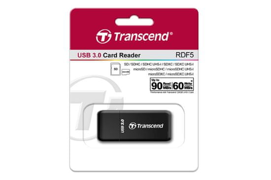 Transcend čitalnik kartic RFD5, črn