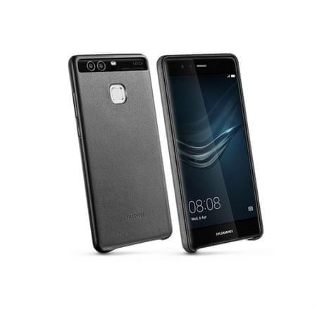 Huawei ovitek za P9, usnjen, črn
