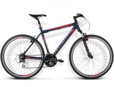 """KROSS rower crossowy Evado 2.0 granatowy-czerwony mat S 17"""" model 2016"""