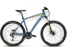 KROSS rower górski Level R3 niebieski-limonkowy-biały model 2016