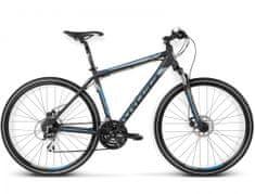 """KROSS rower crossowy Evado 3.0 czarny-niebieski mat XL 23"""" model 2016"""