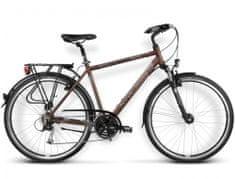 """KROSS rower trekkingowy Trans Pacific brązowy-grafitowy L 21"""" model 2016"""