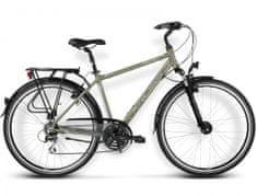 KROSS rower trekkingowy Trans Siberian khaki-srebrny model 2016