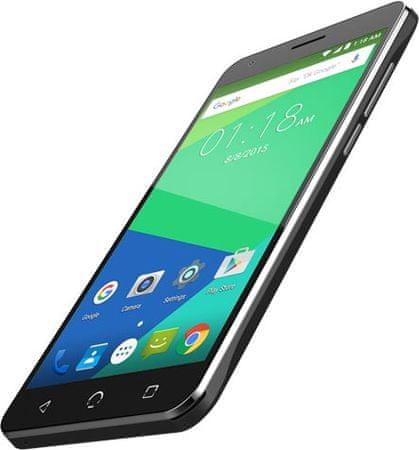 NUU Mobile GSM telefon N5L, Dual Sim, črn + zaščita stekla