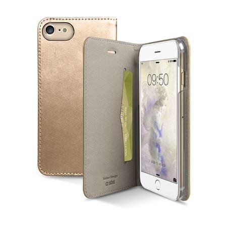 SBS preklopna torbica Gold za iPhone 7, zlata