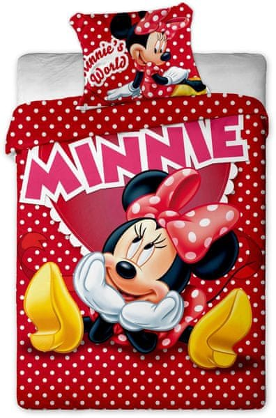 Jerry Fabrics povlečení Minnie hearts 2015 140x200 70x90