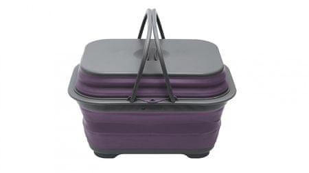 Outwell zložljiv pralni komplet, vijolična