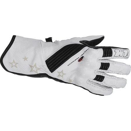 FLM moto športne usnjene rokavice FLM 1.0, ženske bele XS