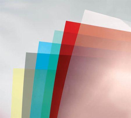 GBC PVC platnica za spiralno vezavo visoki sijaj 180 mic A4 rdeča 100/1