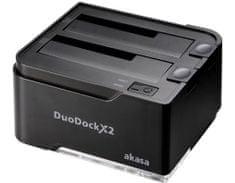 Akasa zunanje ohišje DuoDock X2, črno