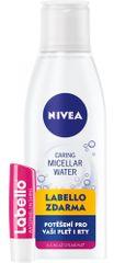 Nivea Jemná micelární voda S/C 200 ml + Labello meloun
