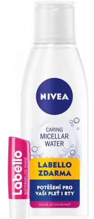 Nivea micelarna voda za suho kožo + Labello lubenica