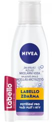 Nivea Zklidňující micelární voda C 200 ml + Labello třešeň