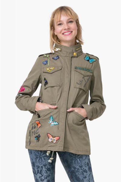 Desigual dámská bunda Taque 40 khaki