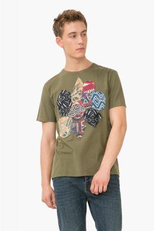 Desigual pánské tričko Nicogim L khaki