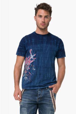 Desigual pánské tričko Flor Dye S modrá