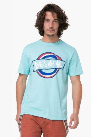 Desigual pánské tričko Elias L tyrkysová