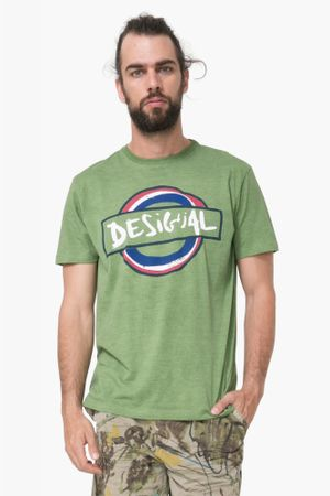 Desigual pánské tričko Elias L zelená