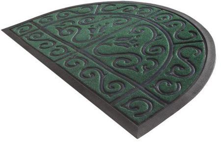 York Rohožka půlkruh 50 x 80 cm zelená