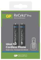 GP ReCyko+ Pro AAA 650mAh 2ks