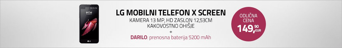 LG mobilni telefon X Screen