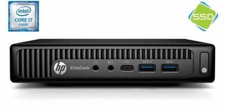 HP namizni računalnik EliteDesk 800 G2 DM i7-6700/16GB/256GB/IntelHD/W10P (X3J16EA)