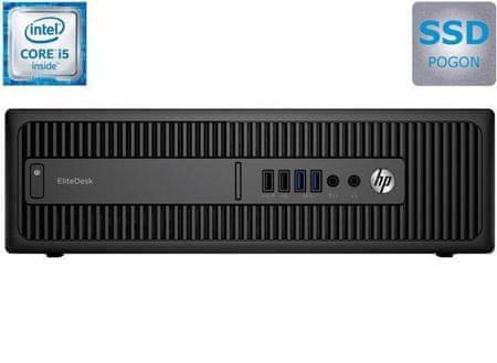 HP namizni računalnik 800 EliteDesk SFF G2 i5-6500/8GB/256GB/IntelHD/Win10P (X6T28EA)