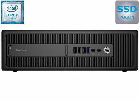 HP stolno računalo 800 EliteDesk SFF G2 i5-6500/8GB/256GB/IntelHD/Win10P (X6T28EA)