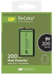 GP polnina baterija ReCyko+ 6F22 (9V), 1 kos