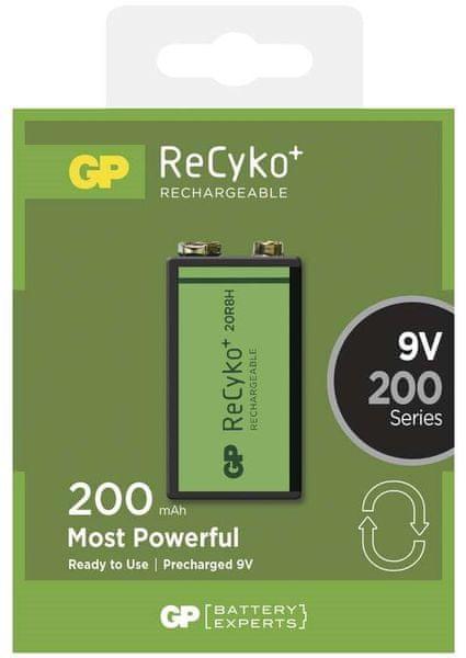 GP ReCyko+ 9V 200mAh 1ks