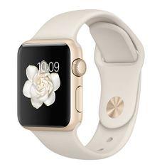 Apple Watch Sport, 38 mm, zlatý hliník – starobiely športový remienok