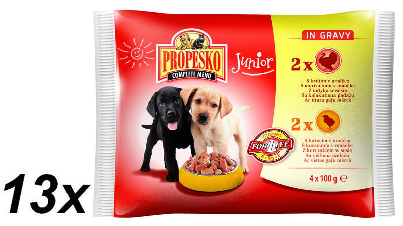 Propesko Kapsičky Junior kuře, krocan 13 x (4 x 100g)