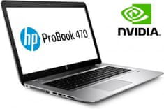HP prenosnik ProBook 470 G4 i3-7100U/8GB/256/17,3FHD/GF930MX/DOS (W6R37AV)