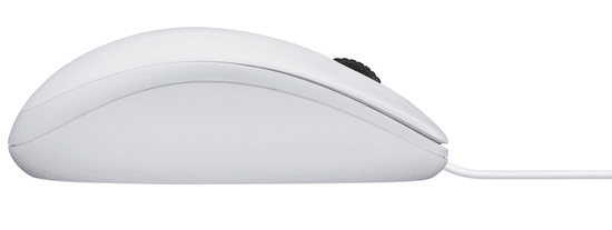 Logitech B100 optična miška, bela