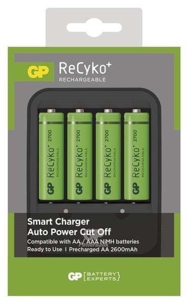 GP Smart Charger + AA 2700mAh 4ks