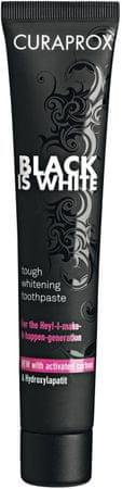 Curaprox zobna pasta Black is White, 90 ml