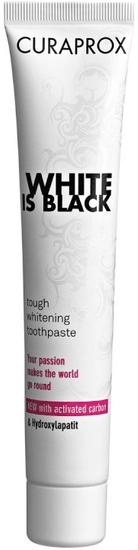 Curaprox zobna pasta White is Black, 90 ml