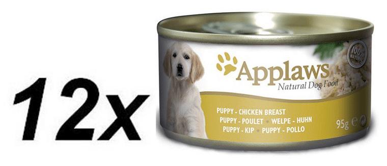 Applaws konzerva PUPPY kuře, hovězí, vepřové 12 x 95g