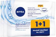 Nivea Čisticí pleťové micelární ubrousky 1+1