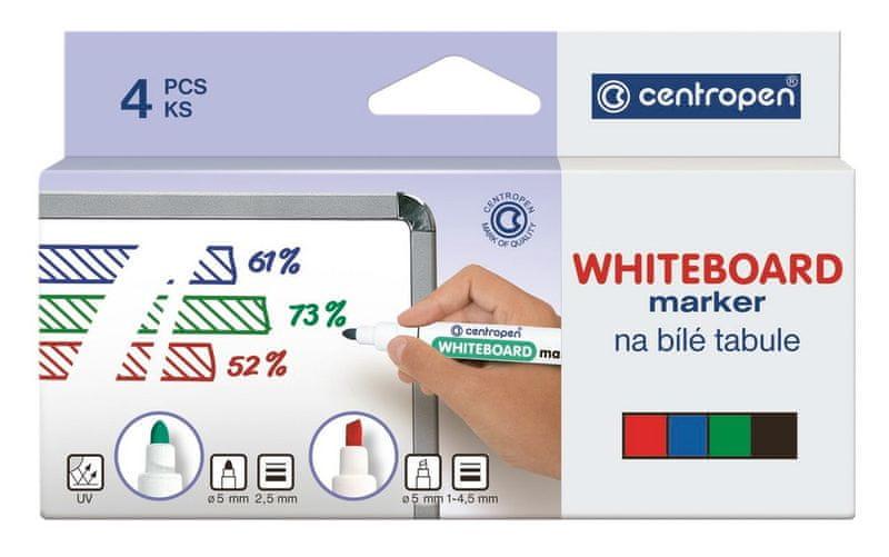 Značkovač 8569 na bílé tabule sada 4 barev