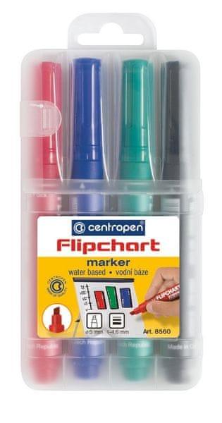 Značkovač 8560 Flipchart sada 4 barev