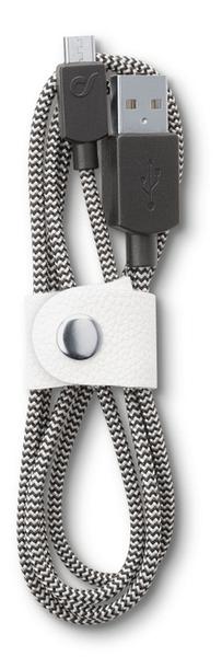 CellularLine Datový kabel LONGLIFE, microUSB, textilní obal, design Fabric