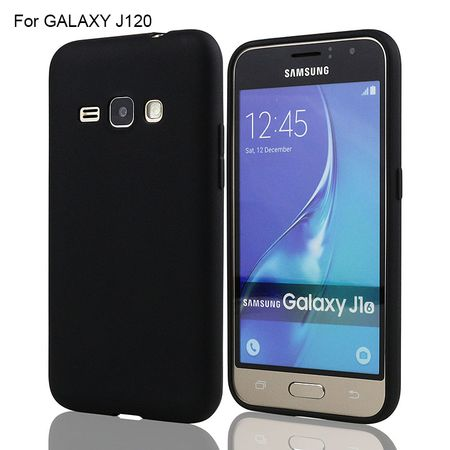 Candy tanek silikonski ovitek za Samsung Galaxy J1 2016 J120, črn