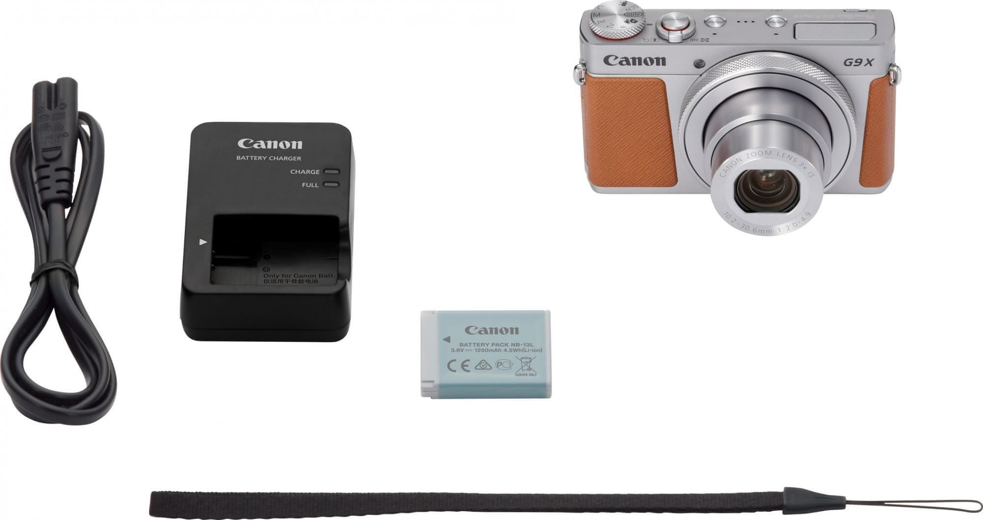 canon powershot G9 X Mark II top