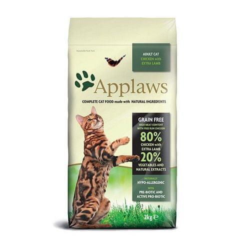 Applaws hrana za mačke, piletina i janjetina, 2 kg