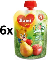 Hami kapsička jablíčko a hruška 6x90g