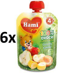 Hami kapsička ovocný koktejl 6x90g