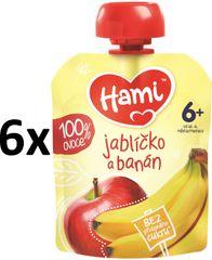 Hami kapsička jabĺčko a banán 6x90g